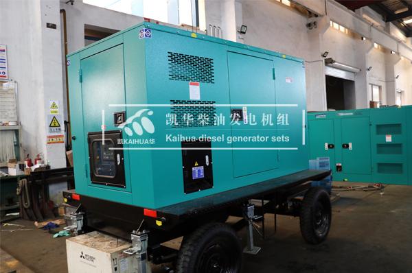 120KW移动静音发电机组检测出厂